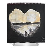 In Love With Meditation  Shower Curtain