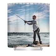 In Meditation Shower Curtain