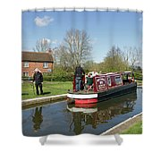 In Papercourt Lock On The Wey Navigations Shower Curtain