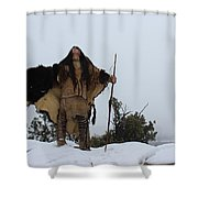 In Prayer Shower Curtain