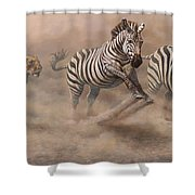 In Pursuit Shower Curtain by Alan M Hunt