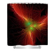 In Red 0020 Shower Curtain