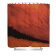 In Red Shower Curtain