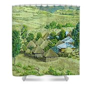 In Selale, Ethiopia Shower Curtain