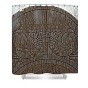 In Stone Cross And Crown Virginia City Nv Shower Curtain