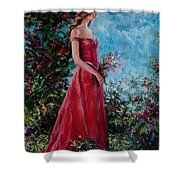 In Summer Garden Shower Curtain
