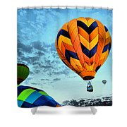 In Take Off Mode Shower Curtain