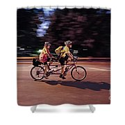 In Tandem Shower Curtain