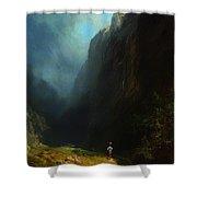In The Alpine High Valley Shower Curtain