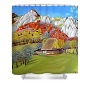 In The Autumn Light Shower Curtain