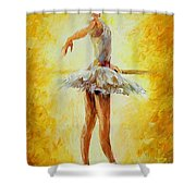 In The Ballet Class Shower Curtain