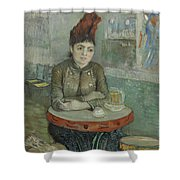 In The Cafe  Agostina Segatori In Le Tambourin Paris January  March 1887 Vincent Van Gogh 1853  Shower Curtain