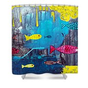 In The Cave Shower Curtain