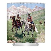 In The Cheyenne Country Shower Curtain