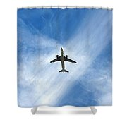 In The Cloud X Zone Shower Curtain