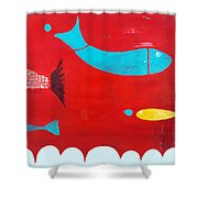 In The Clouds Part 2 Shower Curtain