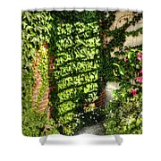 In The Courtyard Shower Curtain