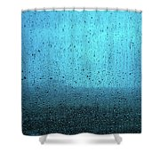 In The Dark Blue Rain Shower Curtain