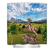 In The Field 25 Shower Curtain