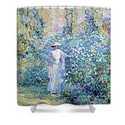 In The Flower Garden 1900 Shower Curtain