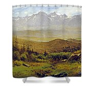 In The Foothills Of The Rockies Shower Curtain