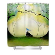 In The Forest Shower Curtain