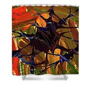 In The Forward Mind Abstract Shower Curtain