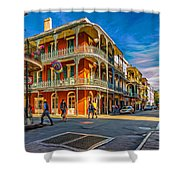 In The French Quarter - 2 Paint Shower Curtain