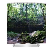 In The Garden Of The Rocks Shower Curtain