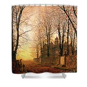 In The Golden Olden Time Shower Curtain by John Atkinson Grimshaw