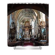 In The Gothic-baroque Church Shower Curtain