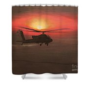 In The Heat Of Night Over Baghdad Shower Curtain