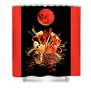 In The Heat Of The Night 2 Honeysuckle Red Moon Shower Curtain
