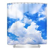 In The Heavens Above Shower Curtain