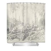 In The Land Of Iron And Steel Shower Curtain