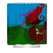 In The Land Of Suess Shower Curtain