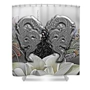 In The Land Of The Dragons Shower Curtain