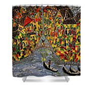 In The Light Of Shimmering Night In Venice Shower Curtain