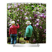 In The Lilac Garden Shower Curtain