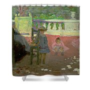 In The Luxembourg Gardens  Shower Curtain by Henri Edmond Cross