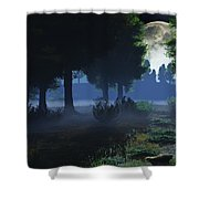 In The Moon Light  Shower Curtain
