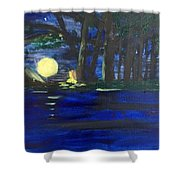 In The Moonlight Shower Curtain