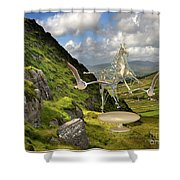 In The Mountains 22 Shower Curtain