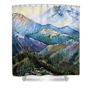 In The Mountains Shower Curtain