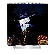 In The Park In The Dark Shower Curtain