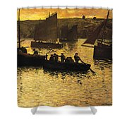 In The Port Shower Curtain by Charles Cottet