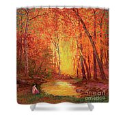 In The Presence Of Light Meditation Shower Curtain