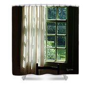 In The Quiet Of The Afternoon Shower Curtain