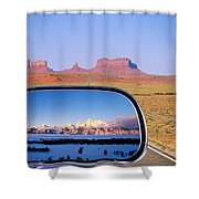 In The Rear View Mirror 2 Shower Curtain