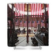 In The Roundhouse At The B And O Railroad Museum In Baltimore Shower Curtain